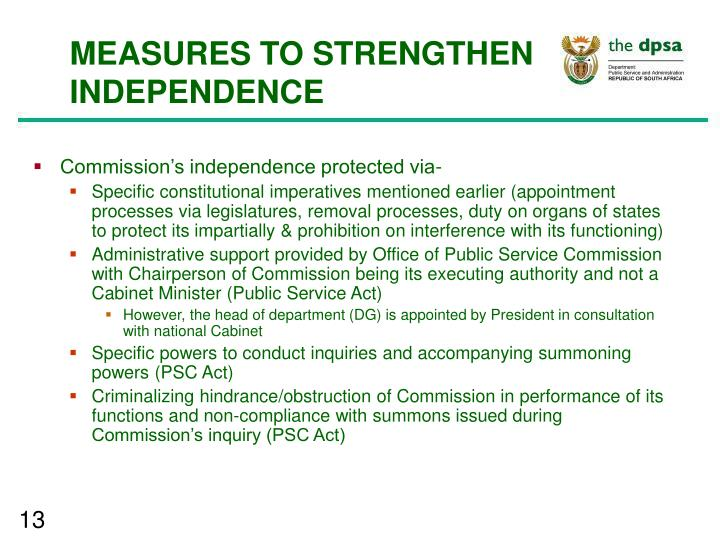 the role of public service commission The public service commission's (psc) objectives are to promote and maintain   the public service commission retains a role in the administration of the.