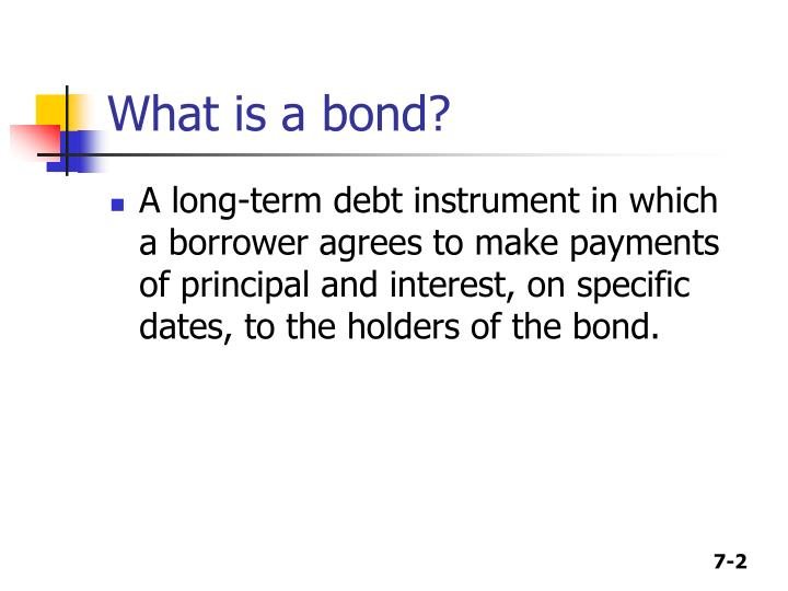bond and debt instrument It is a government debt instrument issued by the united states department of the treasury to finance government spending as an treasury bonds (t-bonds.