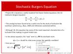 stochastic burgers equation