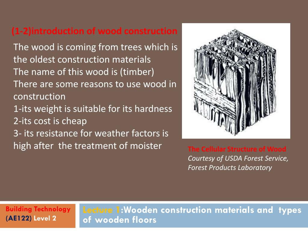 PPT - Lecture 1: Wooden construction materials and types of wooden