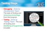 testing stage
