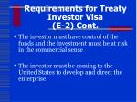 requirements for treaty investor visa e 2 cont1