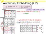 watermark embedding 2 2
