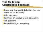 tips for giving constructive feedback