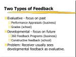 two types of feedback