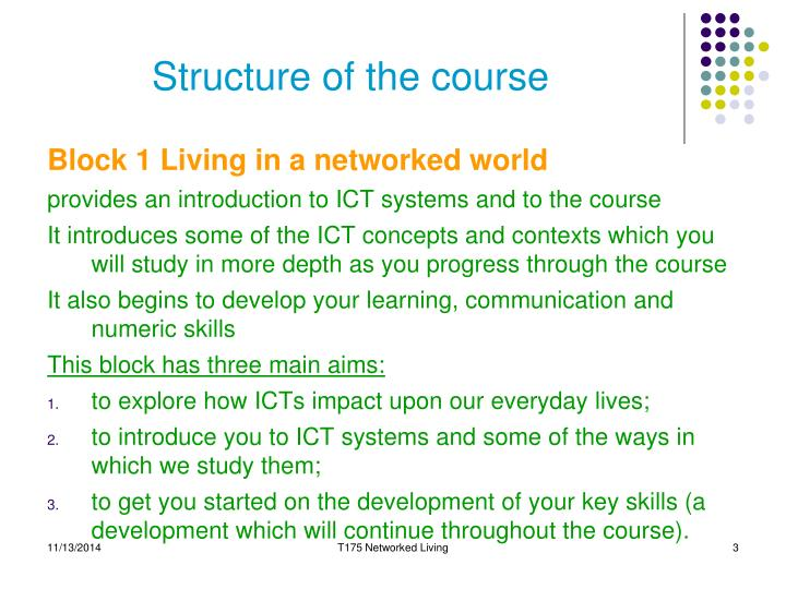 Structure of the course1