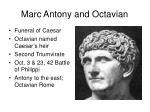 marc antony and octavian