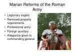 marian reforms of the roman army