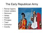 the early republican army
