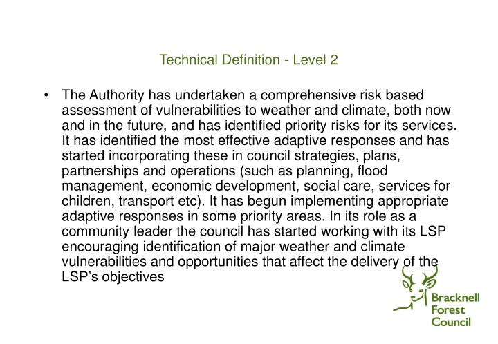 Technical Definition - Level 2