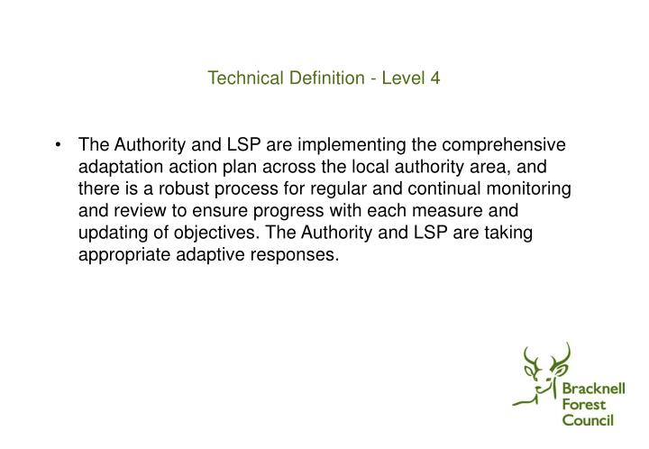 Technical Definition - Level 4
