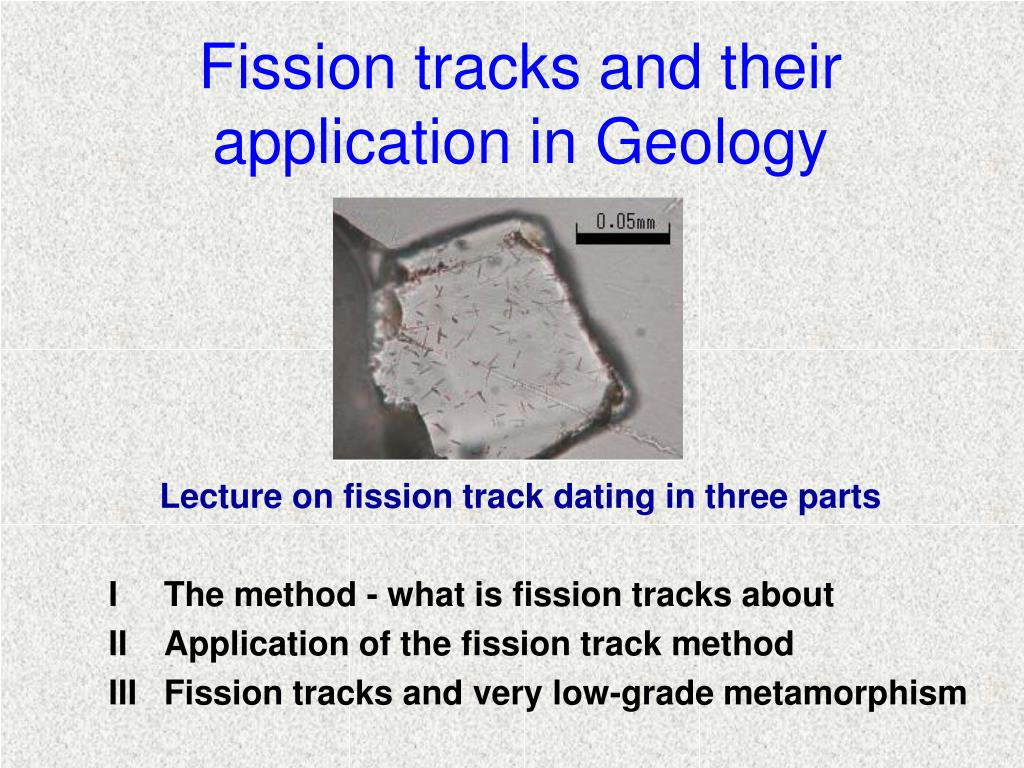 Fission track dating applications for phones