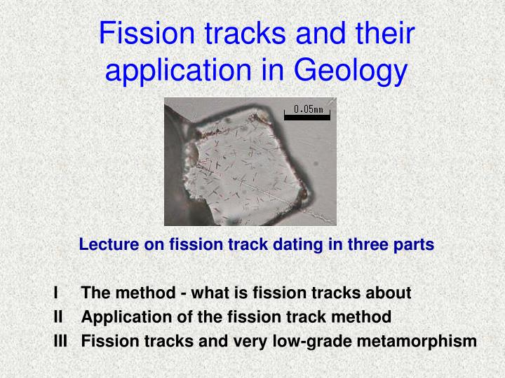 fission tracks and their application in geology n.