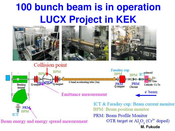 100 bunch beam is in operation