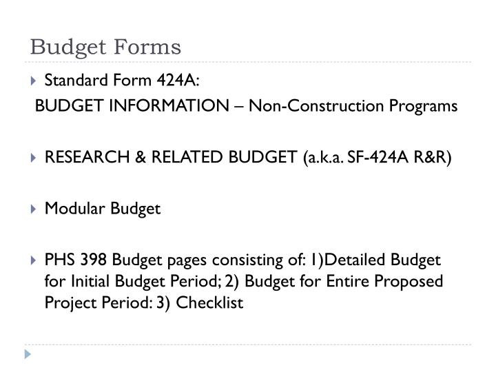 Ppt Budget Forms Powerpoint Presentation Id6553991