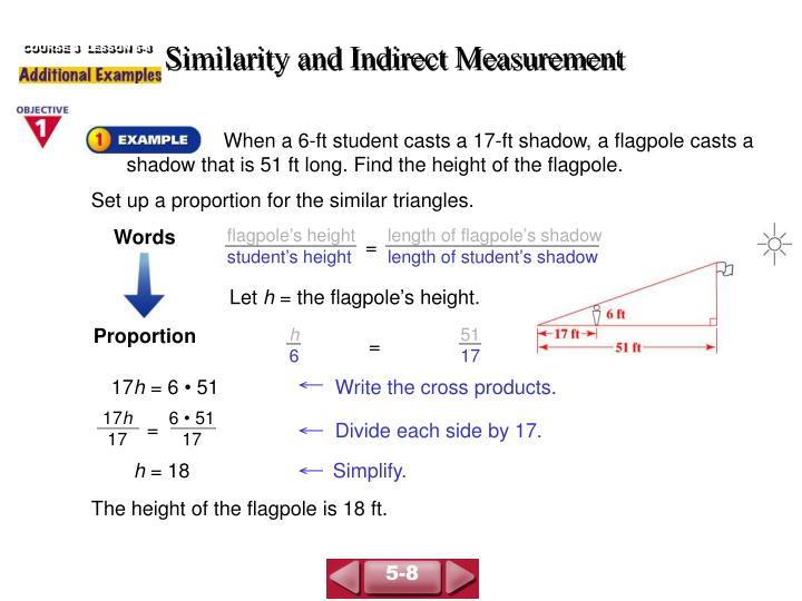 similarity and indirect measurement n.