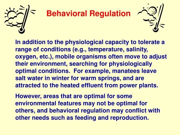 Behavioral Regulation