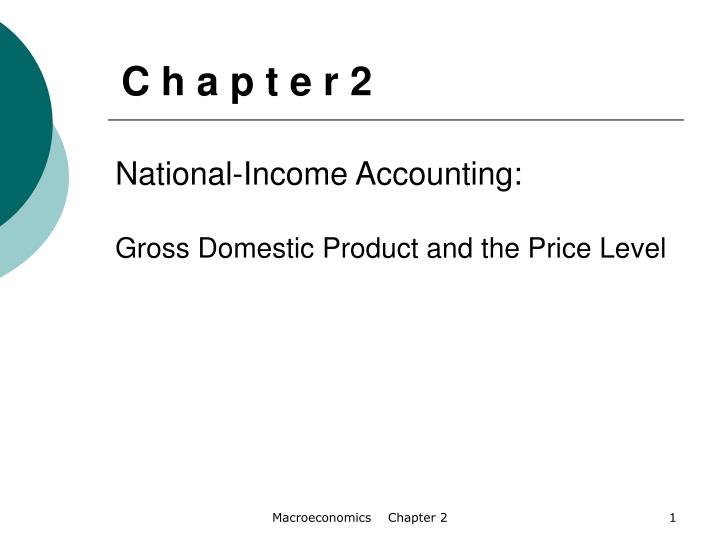 national income accounting National income accounting the statistics for gross domestic product (gdp) are computed as part of the national income and product accounts this national accounting system, developed during the 1940s and 1950s, is the most ambitious collection of economic data by the united states government and is the source of much of the information we have.