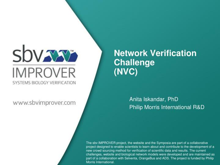 Network verification challenge nvc