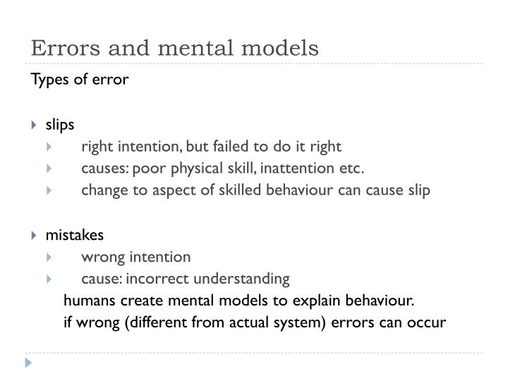 Errors and mental models
