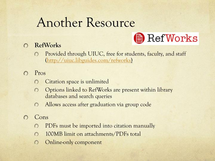 Another Resource