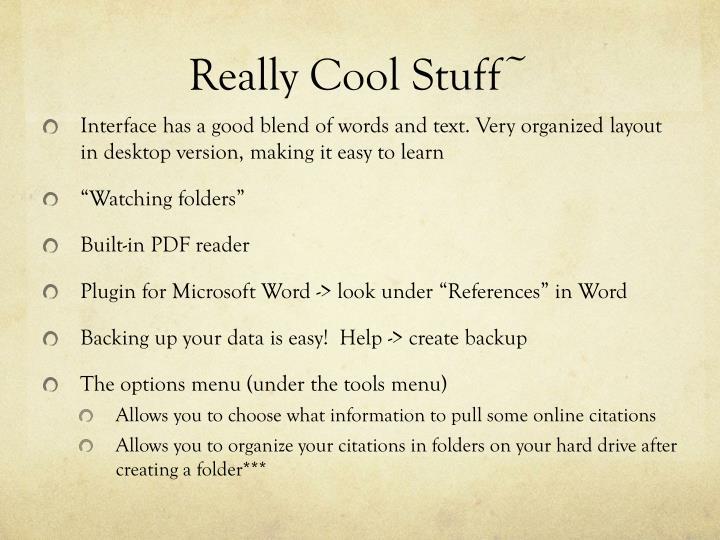 Really Cool Stuff~