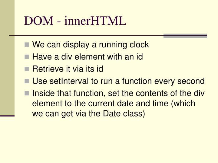 DOM - innerHTML