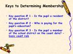 keys to determining membership