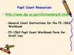 pupil count resources