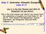 step 3 determine allowable exemptions lines 8 111