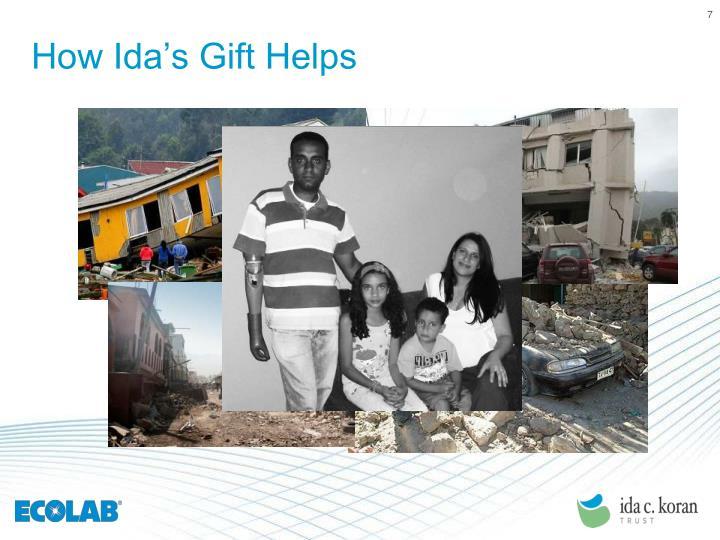 How Ida's Gift Helps