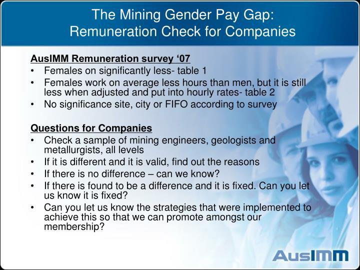 The Mining Gender Pay Gap: