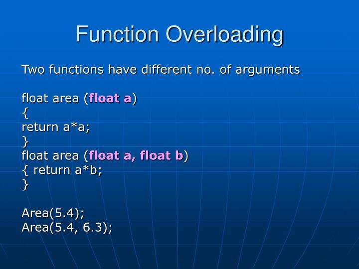 Function overloading1