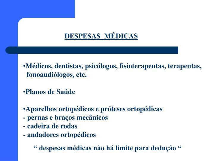 DESPESAS  MÉDICAS