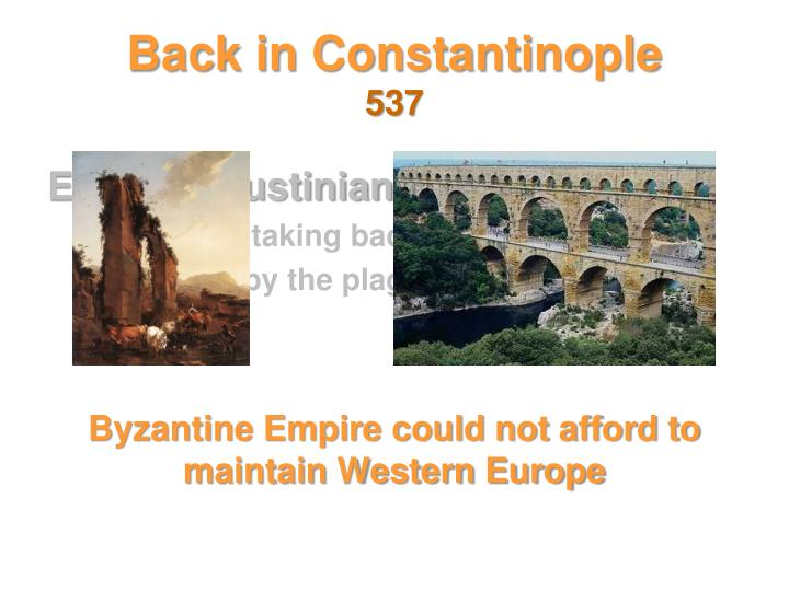Back in Constantinople