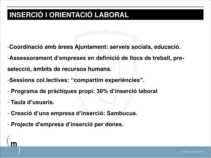 INSERCIÓ I ORIENTACIÓ LABORAL