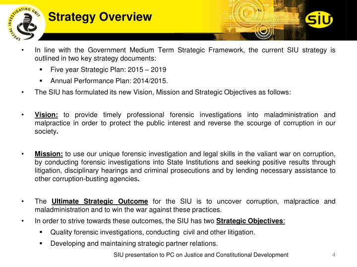 Strategy Overview