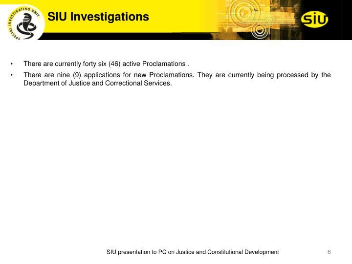 SIU Investigations
