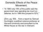 domestic effects of the peace movement