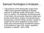 samuel huntington s analysis