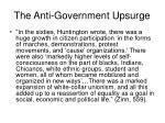 the anti government upsurge