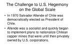 the challenge to u s hegemony on the global scale