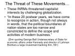 the threat of these movements