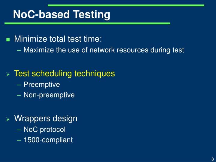 NoC-based Testing