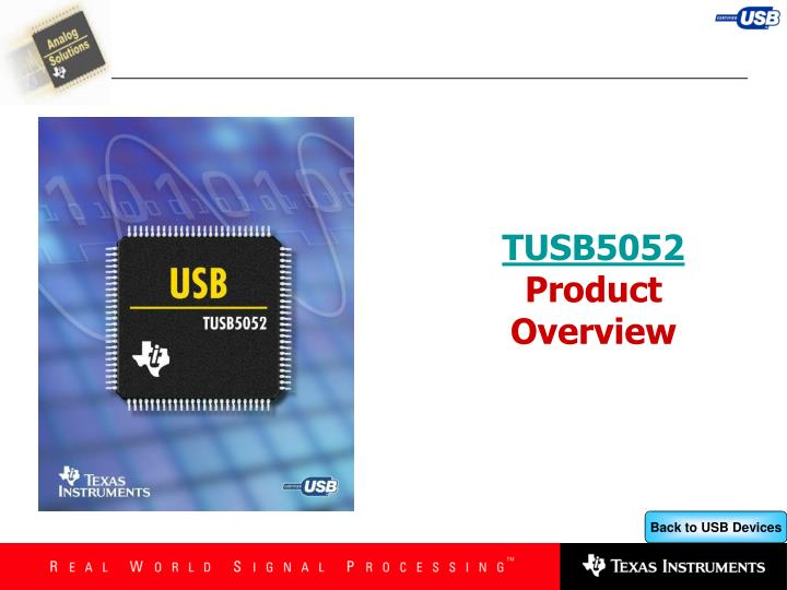 tusb5052 product overview n.