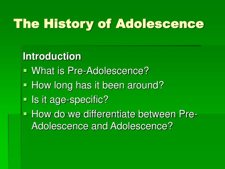 the development of stereotyping during the pre adolescence of individuals Stereotyping teen behavior can have the unfortunate effect of creating a self-fulfilling prophecy and can lead to long-term negative effects taking the time to know and understand teens individually may be the better choice.