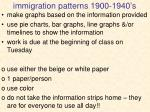 immigration patterns 1900 1940 s