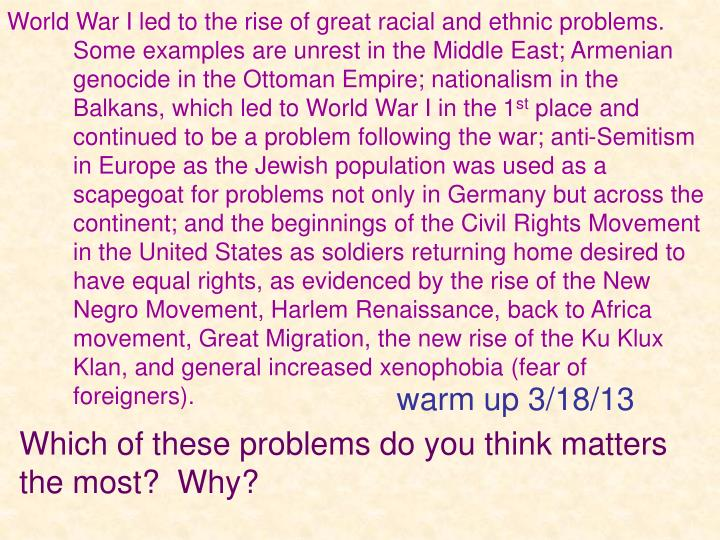 which of these problems do you think matters the most why