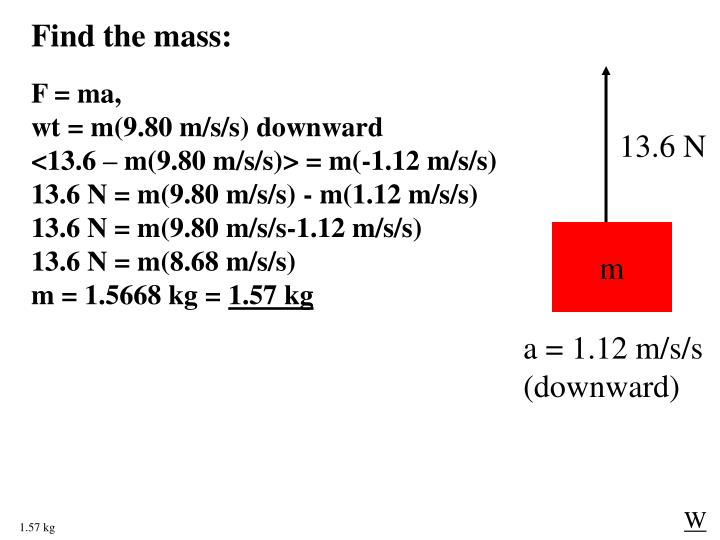 Find the mass: