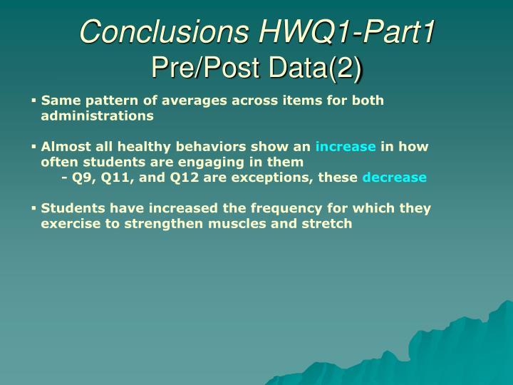Conclusions HWQ1-Part1